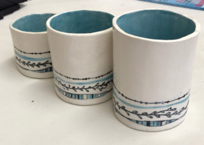 Hand painted glaze pattern with a lot of attention paid to detail